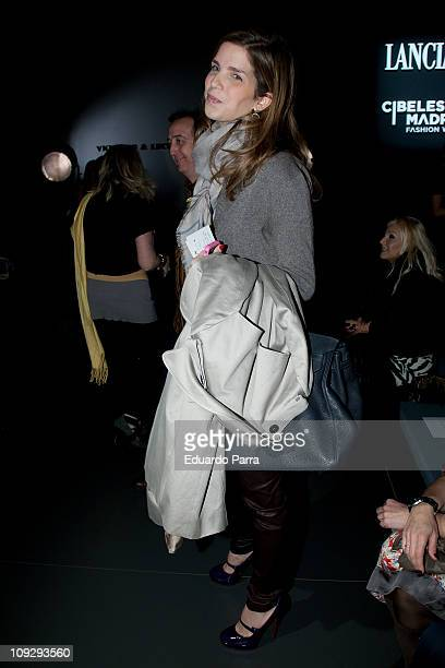 Maria Margarita de Vargas attends the Victorio Lucchino fashion show during the Cibeles Madrid Fashion Week A/W 2011 at Ifema on February 19 2011 in...