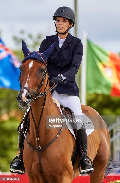 Maria Margarita Vargas attends during CSI Casas Novas Horse Jumping Competition on July 29 2017 in A Coruna Spain