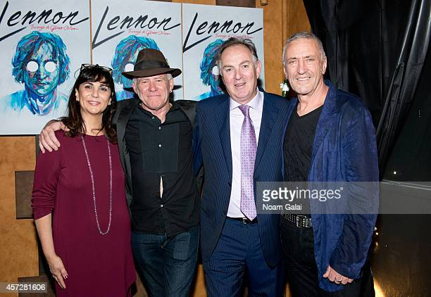 Maria Medcalf Stewart D'Arrietta Harley Medcalf and John R Waters attend the 'Lennon Through A Glass Onion' Opening Night After Party at Bar 13 on...