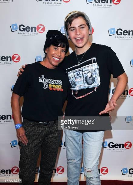 Maria Mekus and Ayden Mekus attend the ConnectHer Media's Launch Party for the Gen Z Girls X Gen Z Guys Influencer Brand on October 19 2019 in Garden...