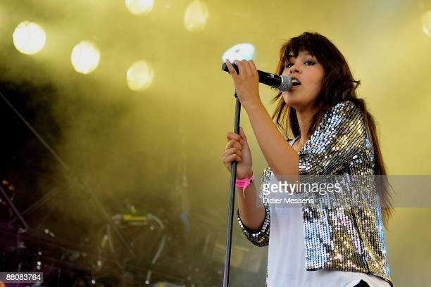 Maria Mena perform on stage on day 2 of Pinkpop at Megaland on May 31, 2009 in Landgraaf, Netherlands.