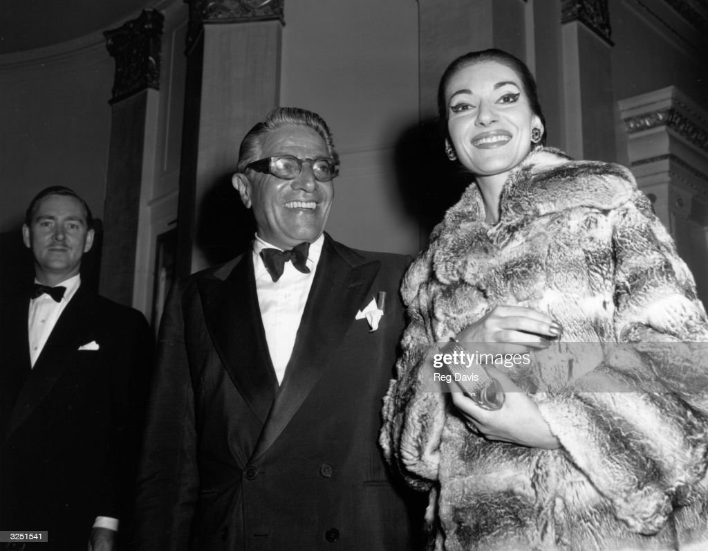Callas & Onassis : News Photo