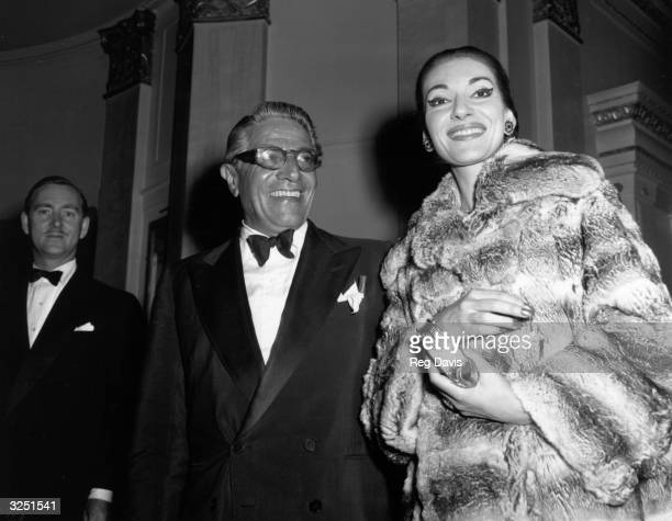 Maria Meneghini Callas operatic soprano with Aristotle Onassis ship owner and millionaire