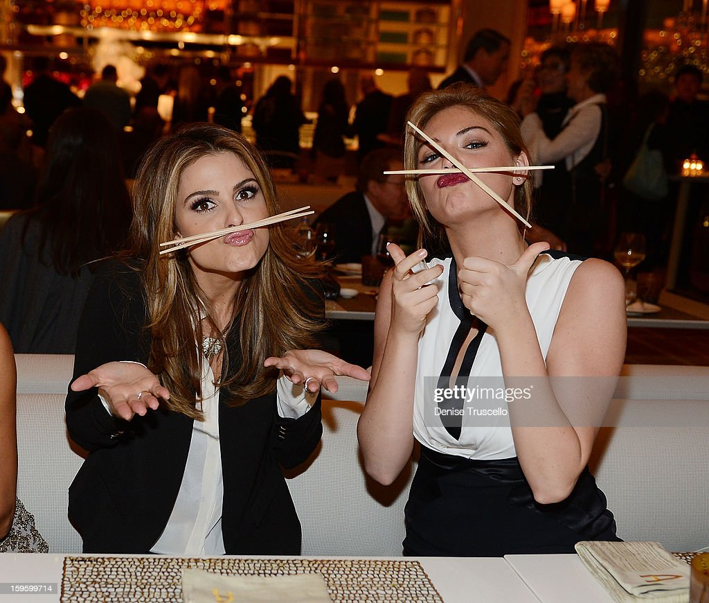 Maria Menounos and Kate Upton attend Andrea's grand opening of Andrea's at Wynn Las Vegas on January 16, 2013 in Las Vegas, Nevada.