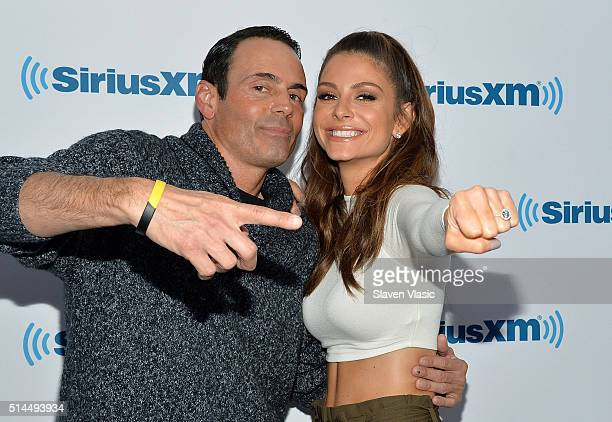 Maria Menounos and longtime boyfriend Keven Undergaro get engaged on The Howard Stern Show on Howard Stern's exclusive SiriusXM channel Howard 100 at...