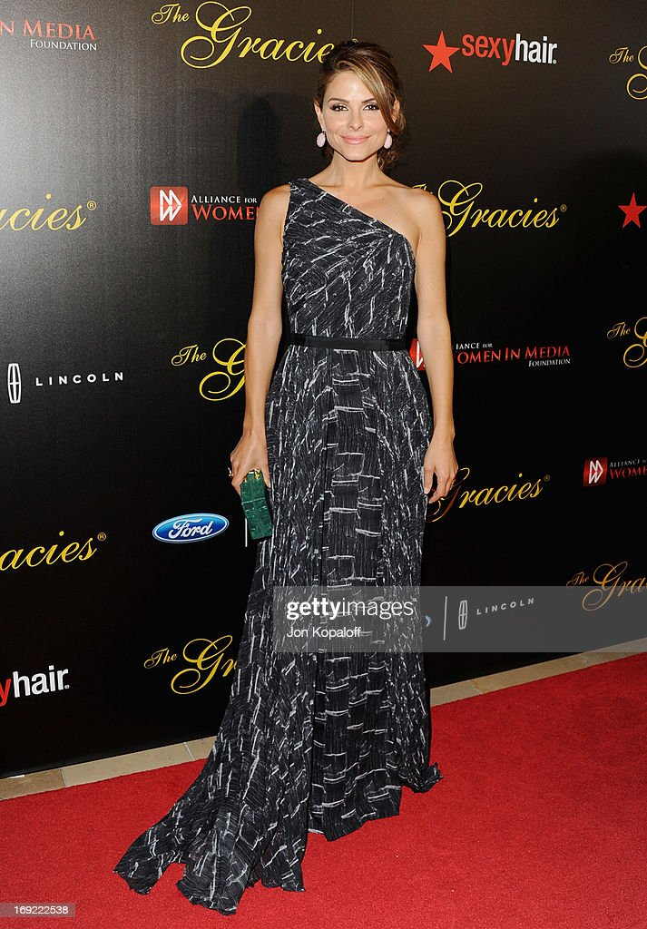 Maria Menounos arrives 38th Annual Gracie Awards Gala at The Beverly Hilton Hotel on May 21, 2013 in Beverly Hills, California.