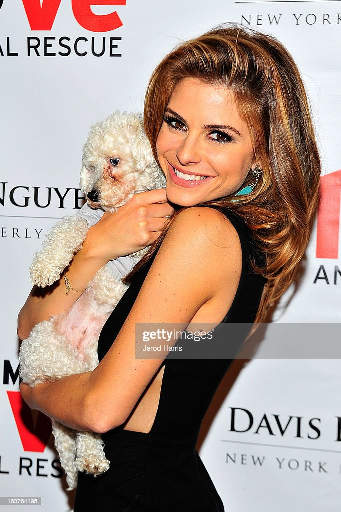 Maria Menounos arrives at Dr. Davis B. Nguyen and Much Love Animal Rescue host ÒMakeover for MuttsÓ at The Peninsula Hotel on March 14, 2013 in Beverly Hills, California.