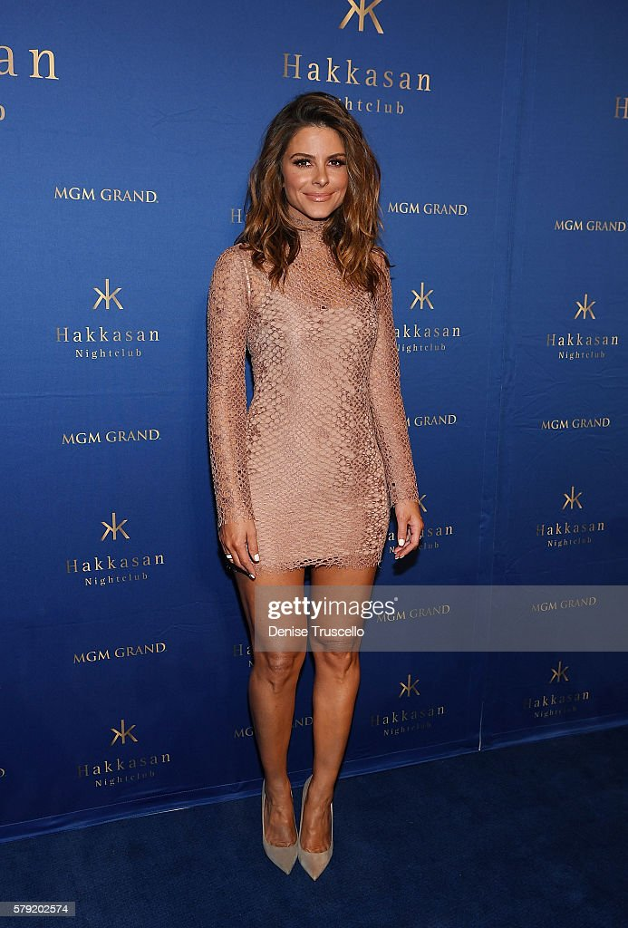Maria Menounos arrives at Hakkasan Las Vegas Nightclub inside MGM Grand on July 22, 2016 in Las Vegas, Nevada.