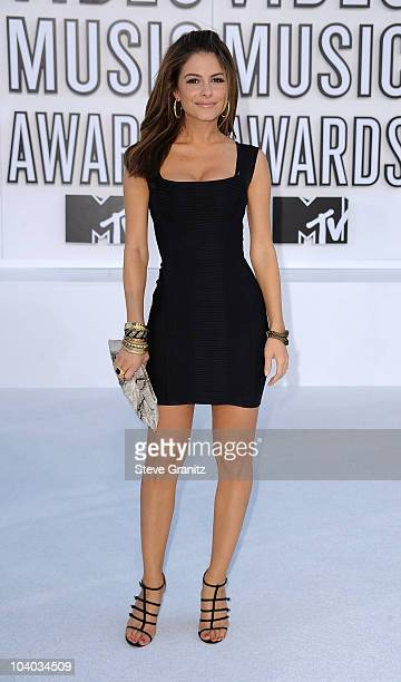 Maria Menounos arrives at the 2010 MTV Video Music Awards held at Nokia Theatre LA Live on September 12 2010 in Los Angeles California