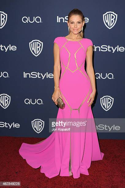 Maria Menounos arrives at the 2014 InStyle And Warner Bros 71st Annual Golden Globe Awards PostParty on January 12 2014 in Beverly Hills California