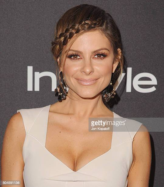 Maria Menounos arrives at the 2016 InStyle And Warner Bros 73rd Annual Golden Globe Awards PostParty at The Beverly Hilton Hotel on January 10 2016...