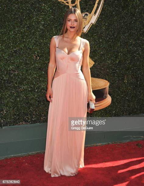 Maria Menounos arrives at the 44th Annual Daytime Emmy Awards at Pasadena Civic Auditorium on April 30 2017 in Pasadena California