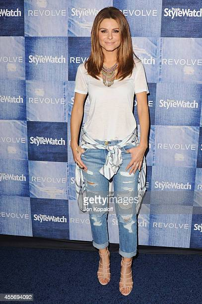 Maria Menounos arrives at the People StyleWatch 4th Annual Denim Awards Issue at The Line on September 18, 2014 in Los Angeles, California.