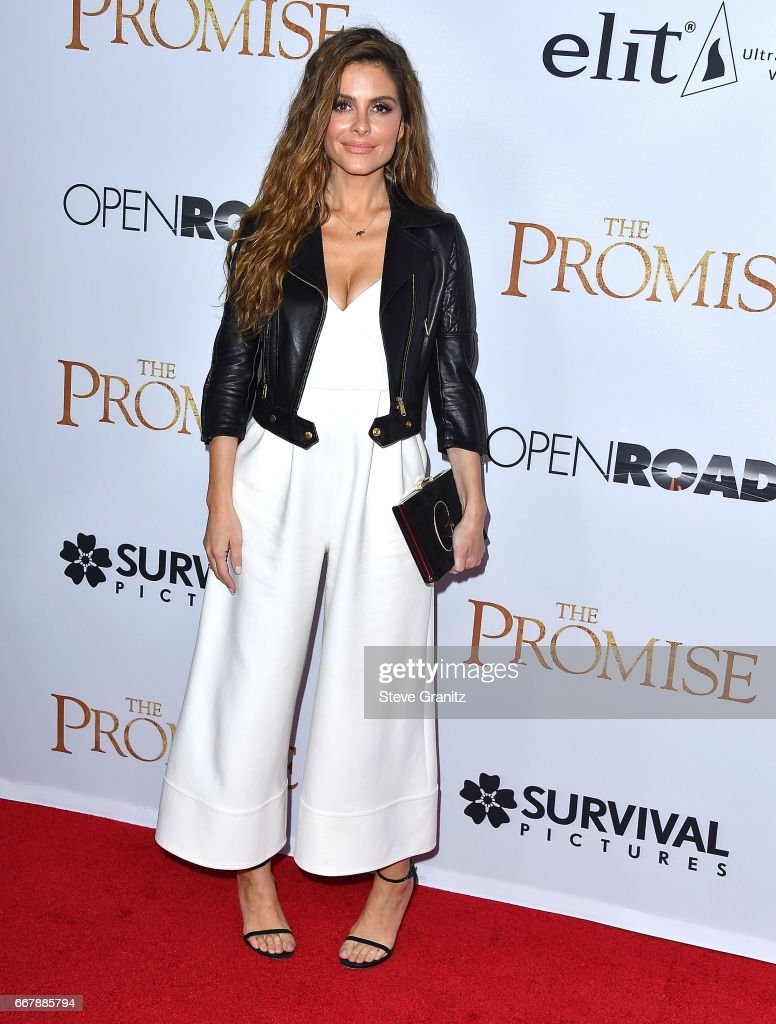 Maria Menounos arrives at the Premiere Of Open Road Films' 'The Promise' at TCL Chinese Theatre on April 12, 2017 in Hollywood, California.