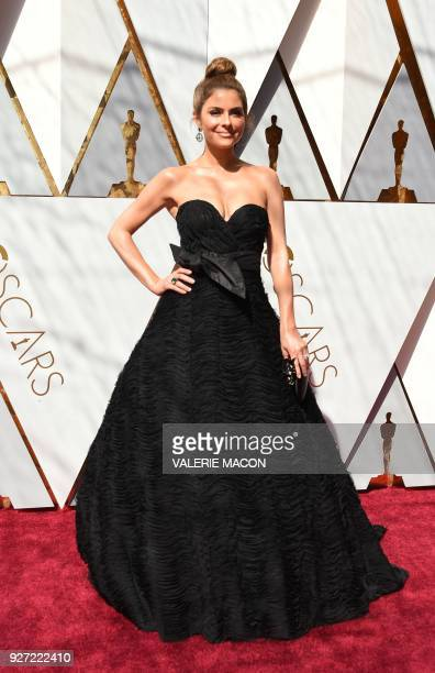 Maria Menounos arrives for the 90th Annual Academy Awards on March 4 in Hollywood California / AFP PHOTO / VALERIE MACON