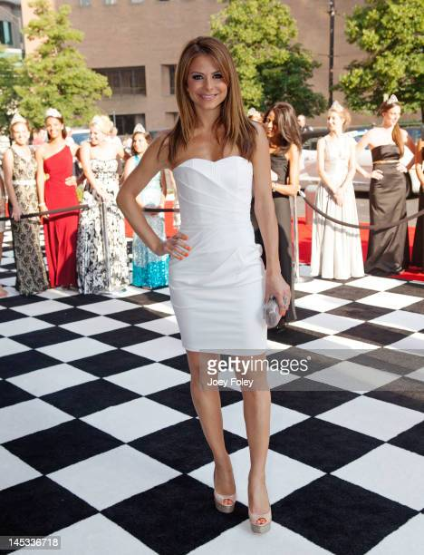 Maria Menounos attends 2012 Indy 500 Snakepit Ball at Indiana Roof Ballroom on May 26 2012 in Indianapolis Indiana
