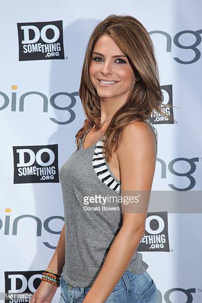 Maria Menounos attends Bing and DoSomething.org's celebration of The Bing Summer of Doing at Jacob H. Schiff Playground on July 10, 2012 in New York...