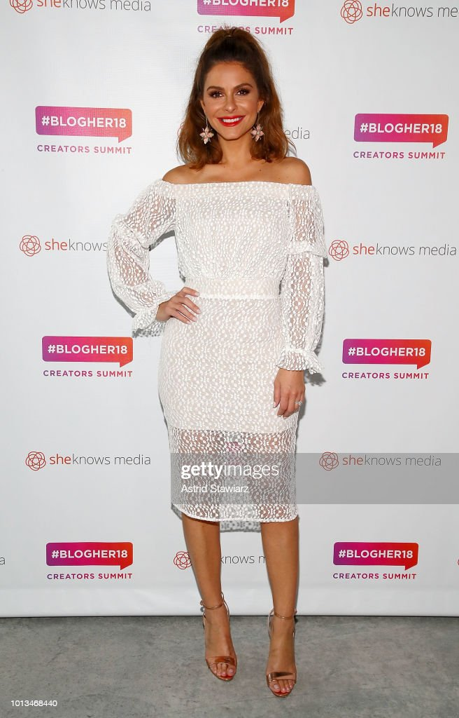 Maria Menounos attends #BlogHer18 Creators Summit at Pier 17 on August 8, 2018 in New York City.