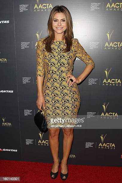 Maria Menounos attends the 2nd AACTA International Awards at Soho House on January 26 2013 in West Hollywood California