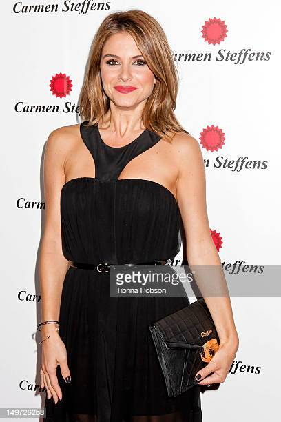 Maria Menounos attends the Carmen Steffens U.S. West coast flagship store opening at Hollywood & Highland Center on August 2, 2012 in Hollywood,...