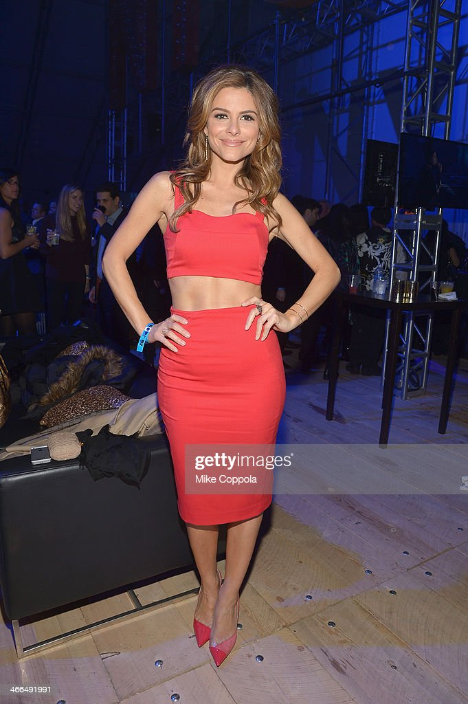 Maria Menounos attends the DirecTV Super Saturday Night at Pier 40 on February 1, 2014 in New York City.