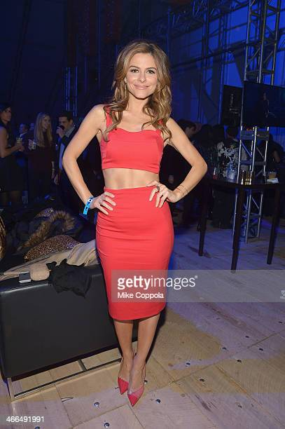Maria Menounos attends the DirecTV Super Saturday Night at Pier 40 on February 1 2014 in New York City