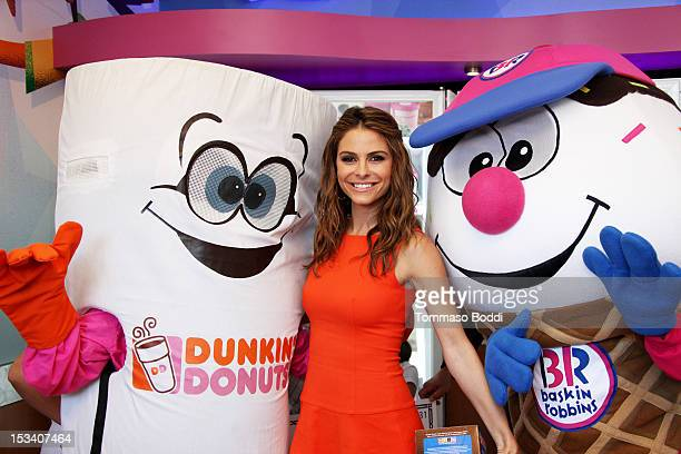 Maria Menounos attends the Dunkin' Donuts K-Cup packs introduced to California event held at Baskin-Robbins on October 4, 2012 in Burbank, California.
