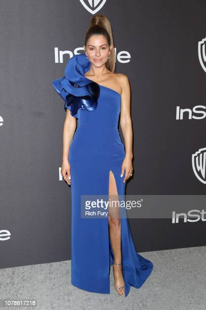 Maria Menounos attends the InStyle And Warner Bros Golden Globes After Party 2019 at The Beverly Hilton Hotel on January 6 2019 in Beverly Hills...