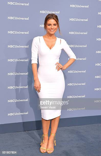Maria Menounos attends the NBCUniversal 2016 Upfront Presentation on May 16 2016 in New York New York