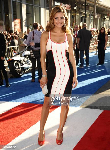 Maria Menounos attends the premiere of Captain America The First Avenger at the El Capitan Theatre on July 19 2011 in Hollywood California