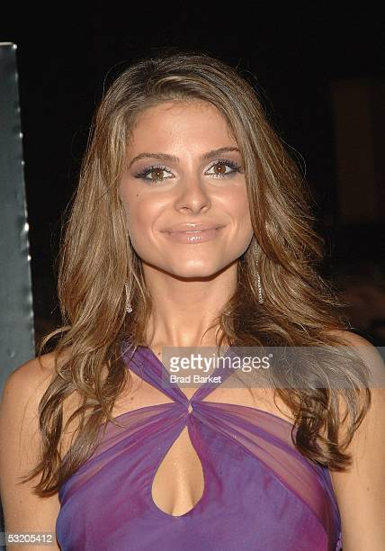 Maria Menounos attends the premiere of Fantastic Four on Liberty Island July 6 2005 in New York City