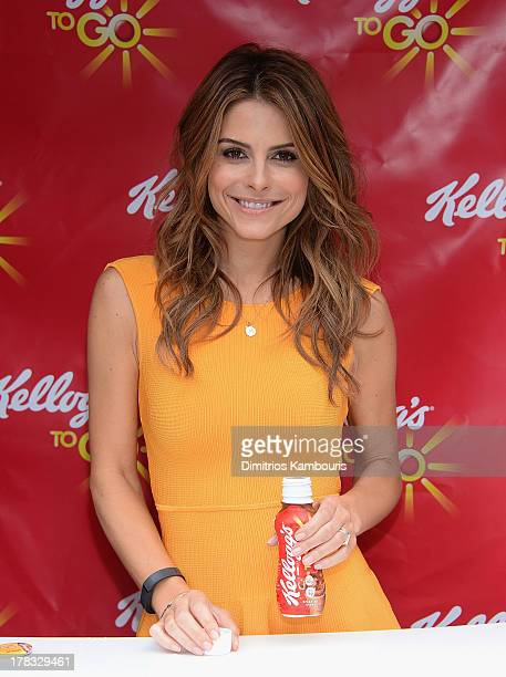 Maria Menounos attends the 'Skipperventions' Event Hosted By Maria Menounos to encourage people from skipping breakfast at Flatiron Plaza on August...
