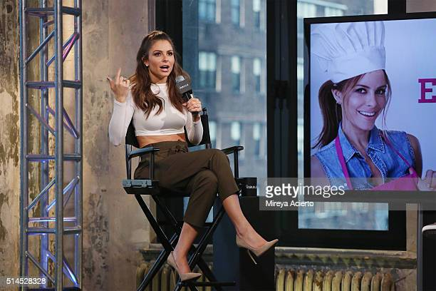 Maria Menounos discusses her 3rd book release The EveryGirl's Guide to Cooking' at AOL Studios in New York on March 9 2016 in New York City