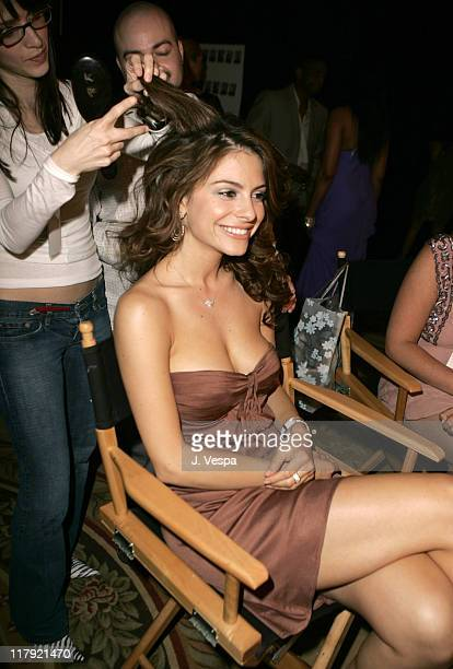 Maria Menounos during 12th Annual Race to Erase MS CoChaired by Tommy Hilfiger and Nancy Davis Backstage and Audience at The Westin Century Plaza...