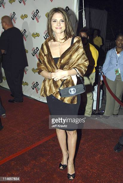 Maria Menounos during 2005 Spike TV Video Game Awards Red Carpet at Gibson Amphitheater in Universal City California United States