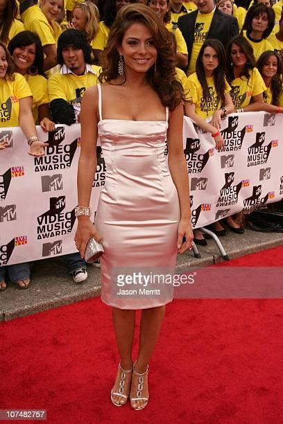 Maria Menounos during 2006 MTV Video Music Awards MTV News Red Carpet at Radio City Music Hall in New York City New York United States