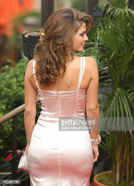 Maria Menounos during 2006 MTV Video Music Awards MTV News Red Carpet at Radio City Music Hall in New York City New York United States