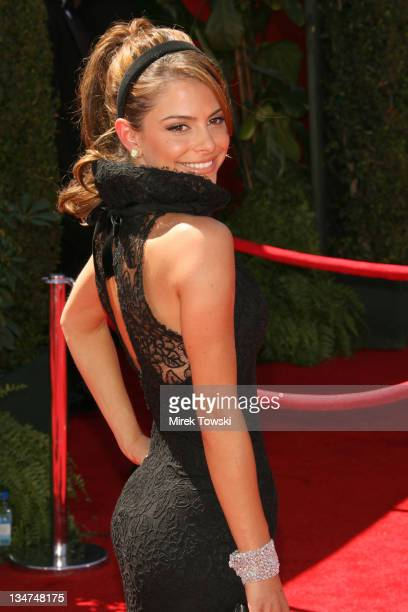 Maria Menounos during 58th Annual Primetime Emmy Awards Arrivals at Shrine Auditorium in Los Angeles California United States