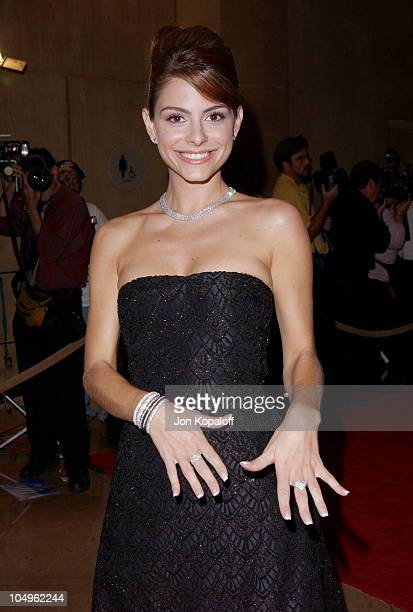 Maria Menounos during Hollywood Awards Gala Ceremony Red Carpet Arrivals at The Beverly Hilton in Beverly Hills California United States