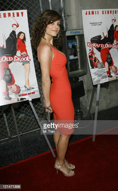 Maria Menounos during 'Kickin' It Old Skool' After Party Arrivals at The Music Box in Hollywood California United States