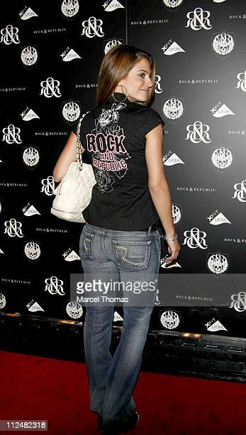 Maria Menounos during Olympus Fashion Week Spring 2007 Rock Republic Red Carpet and Front Row at Cipriani in New York City New York United States