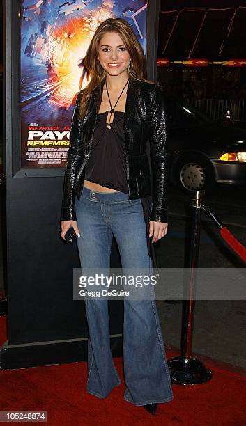 Maria Menounos during Paycheck World Premiere at Grauman's Chinese Theatre in Hollywood California United States