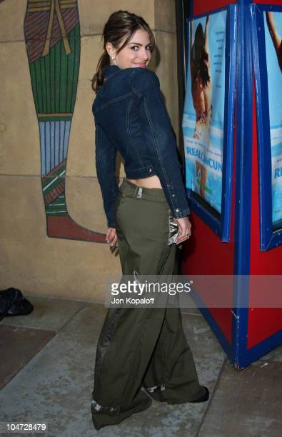 Maria Menounos during The Real Cancun Premiere at The Egyptian Theater in Hollywood California United States