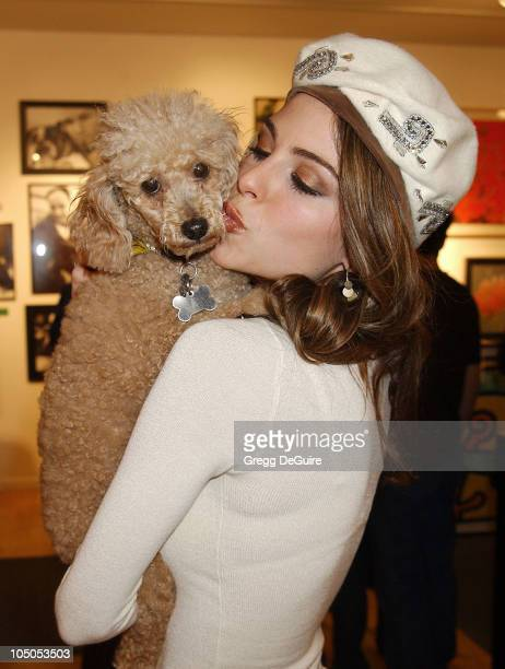 Maria Menounos her dog Noelle during Exhibition by Celebrity Animal Photographer Christopher Ameruoso at HamiltonSelway Fine Arts in West Hollywood...