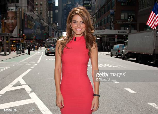 Maria Menounos hosts Extra in Times Square on August 15 2013 in New York City
