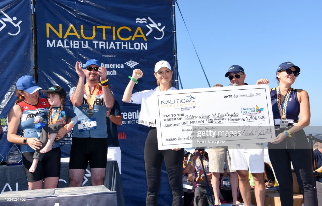 Maria Menounos hosts the Nautica Malibu Triathlon presented