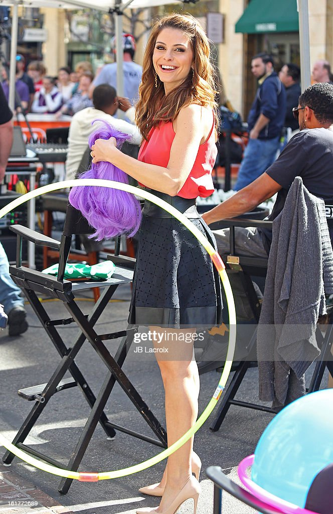 Maria Menounos is seen at the Grove on February 15, 2013 in Los Angeles, California.