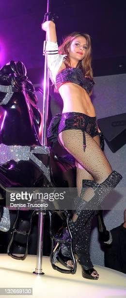 Maria Menounos performs live at Pussycat Dolls Burlesque Saloon on November 12 2011 in Las Vegas Nevada