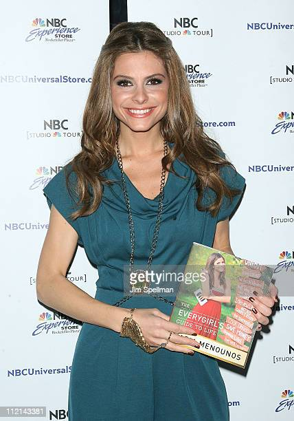 Maria Menounos promotes her new book The Everygirl's Guide to Life at the NBC Experience Store on April 13 2011 in New York City