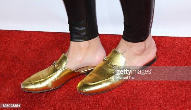 Maria Menounos shoe detail arrives to the 2017 Awareness Film Festival Opening Night Premiere of The Road to Yulin and Beyond at Regal LA Live...